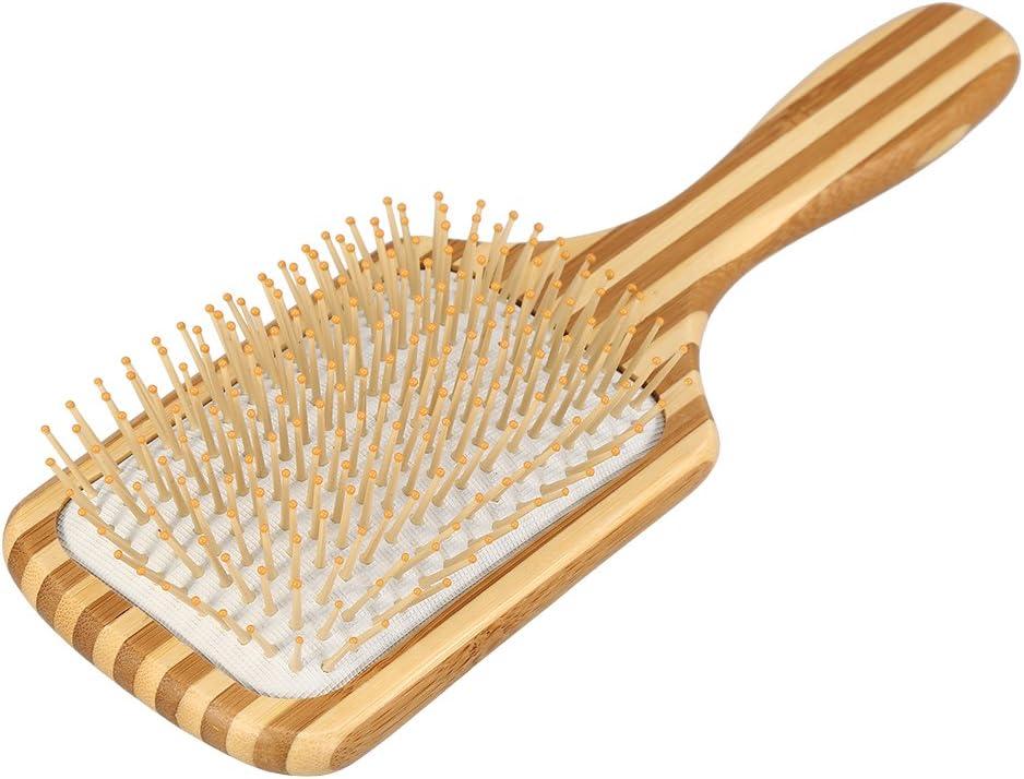 Type 2 Peigne /à Cheveux Bambou Naturel Soins des Cheveux Anti-Statique Poign/ée de Palette Massage Brosse /à Cheveux Coussin Peigne