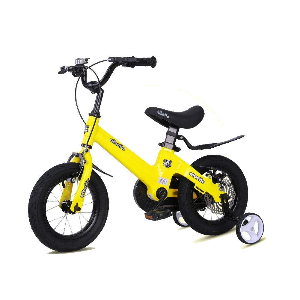 Tienda 2018 amarillo 16in Niños Bicicleta Bicicleta Bicicleta Altura Ajustable Bicicleta de montaña Doble Freno Niño Niña La Seguridad Absorción de Golpes 2-10 años de Edad  a precios asequibles