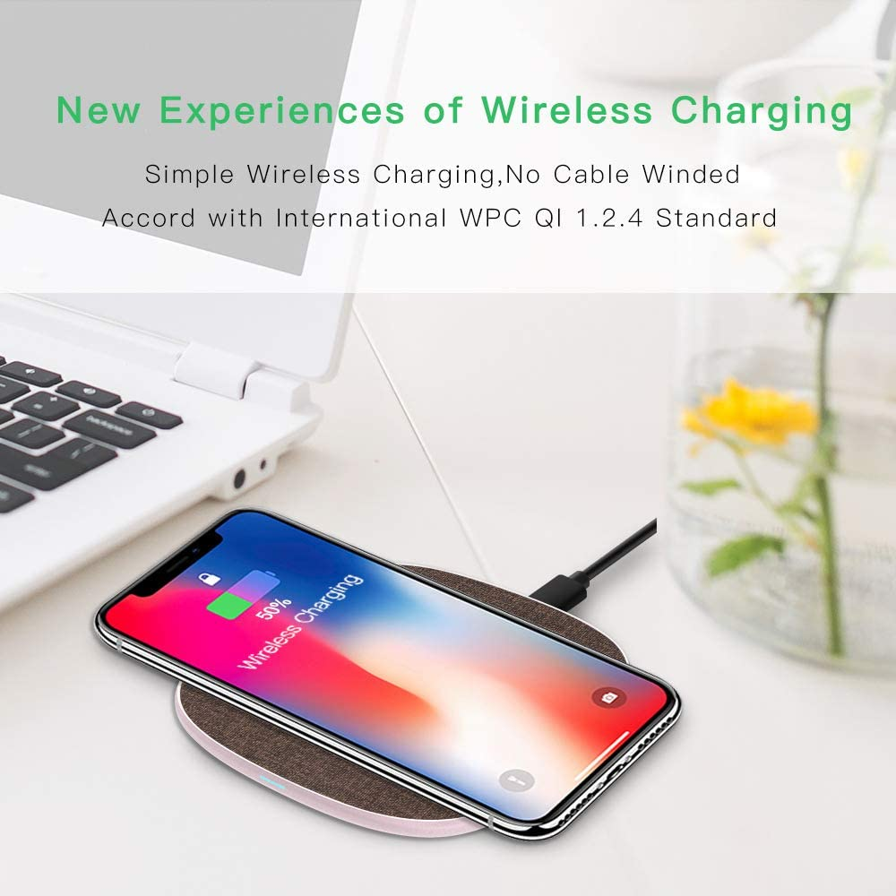 Fast Wireless Charger, Qi Kabelloses Laden Handy: