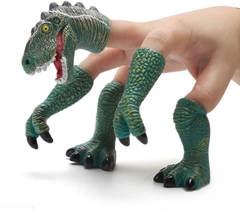 Dinosaur Head Feet Figure Action Dolls Best Choice for Kids Party Favors Bath Toys MATECam Dinosaur Finger Puppets Playset Toys