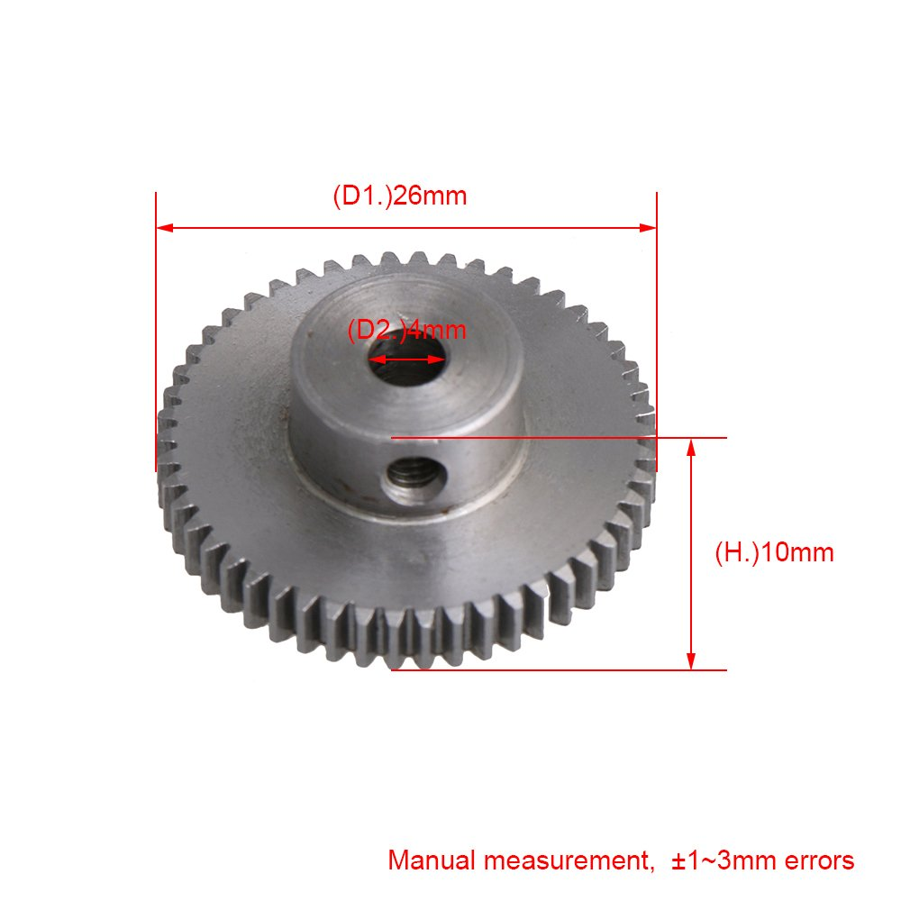 1,6x1,5 CM Schwarz 0,5 Modul 45# Stahl 30 T 0,6 CM Bohrung Ritzel Getriebemotor Getriebe f/ür DIY Micro-generatoren Kleine Maschinen