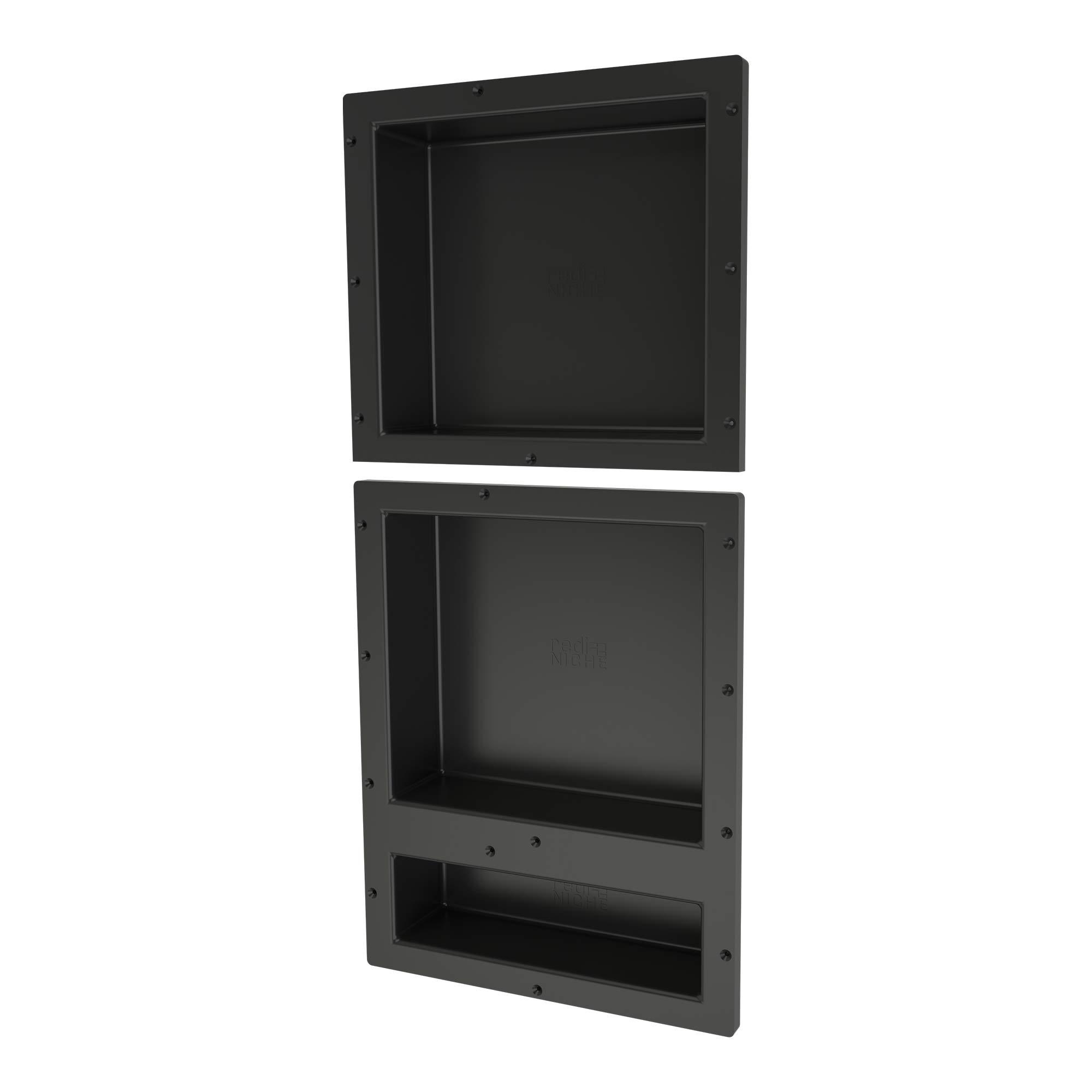 Tile Redi USA RNT1614S-20D Redi Niche Shower, 16'' W x 34'' H, Black