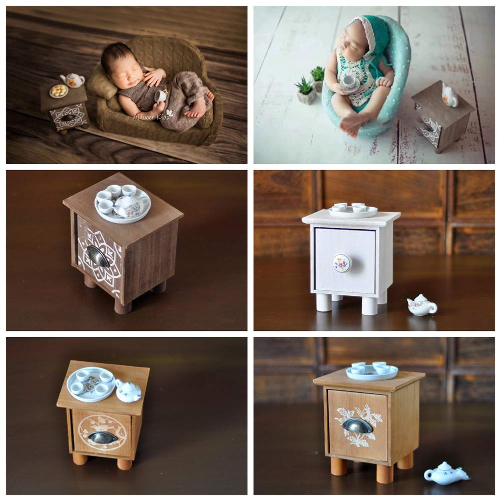 TXYFYP Newborn Baby Photography Props Accessories Tea Table Set Baby Mini Chair Decoration Photography Studio Accessories