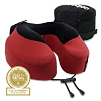 Cabeau Evolution(R), S3 Memory Foam Neck Travel Pillow Red