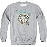 Puss N Boots Mens Cats Pajamas Sweater, Medium, Athletic Heather