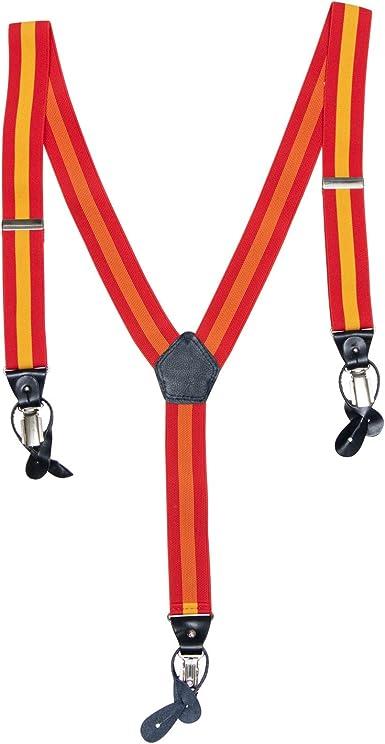 Cencibel Tirantes Cuero Bandera España: Amazon.es: Ropa y ...