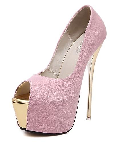 YE Damen Extreme High Heels Plateau Stiletto Pumps mit 16cm Absatz Party Schuhe