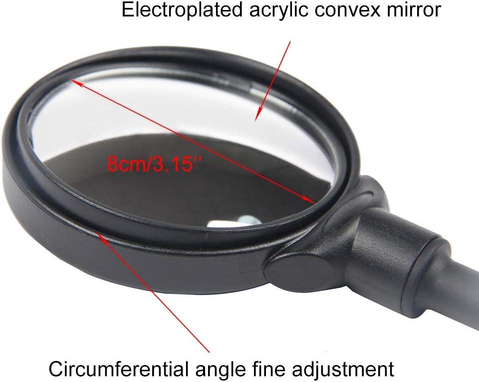2 Pi/èces V/élo R/étroviseur avec Joint Montage sur Guidon pour Miroir de V/élo R/églable /à 360 /° HD Grand Angle S/écuris/é V/élo R/étroviseur pour V/élo de Route de Montagne