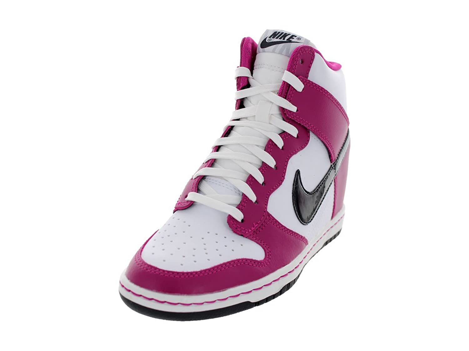 Women's Nike Dunk Sky High Bright Magenta / Black White Shoes