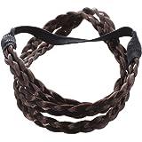 TOOGOO(R) Bohemian Double Hair Braid Plait Headband - Coffee