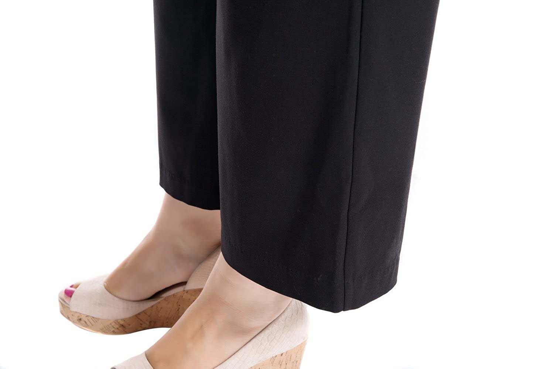 Chicwe Donna Taglie Forti Curvy Fit Cropped Pantaloni Ritagliata con Gamba  Larga Cintura Larga - Pantaloni b82043f1a44