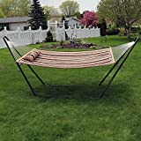 Sunnydaze Quilted Hammock with Stand - 2 Person
