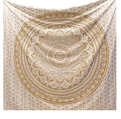 Raajsee Christmas Gift Original Gold Mandala Ombre Tapestry Wall...