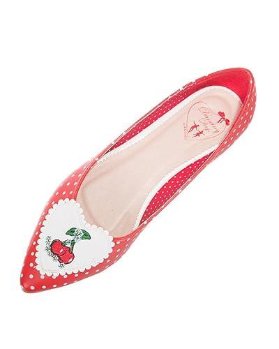 88221d0e12168 Amazon.com | Rockabilly Vintage Retro Cherry Polkas Pointed ...