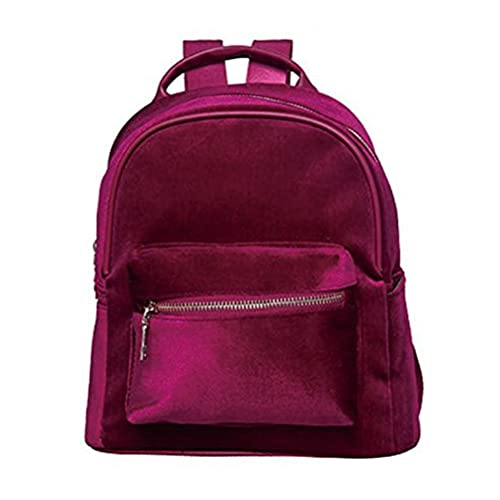 Abuyall Girls Mini Backpack Gold Velvet Shoulder Bag Lightweight Daypack  Solid A 1d1c1aa8f43bc