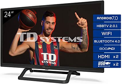 TD Systems Televisor Smart TV Android 7.0 y HBBTV, 800 PCI Hz, 2X HDMI, 2X USB. DVB-T2/C/S2, Modo Hotel: Amazon.es: Electrónica