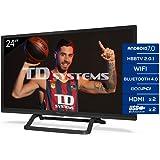 Td Systems - Televisor K24Dlx11Hs, Smart TV 24 Pulgadas, Android 7.0 y Hbbtv, 800 Pci Hz, 2X Hdmi, 2X Usb. Dvb-T2/C/S2…