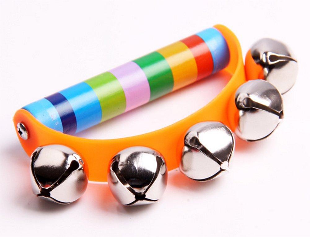 Lymocha 1/x pour Enfants en Bois Poignet Hochets Jouets color/és en Demi-Cercle /à la Main Shake grelots Instrument de Musique Jouet /éducatif pour 0 3/Ans b/éb/é Couleur al/éatoire