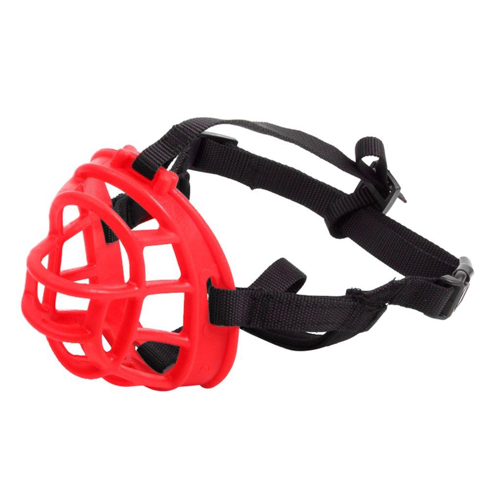 LvRao Pet Puppy Breathable Silicone Basket Dog Muzzles Mask Anti Bite Bark (Black, 1)