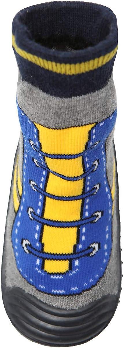 Sufancy Baby Boys Girls Toddlers Slipper Socks Cartoon Non-Skid Rubber Bottom Boots 6-24 Months