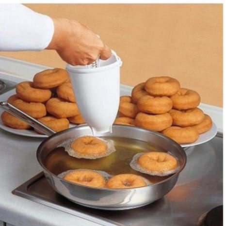 Zonster Plástico Fabricante del buñuelo dispensador freír Dona Moldes Fácil Rápido portátil árabe Waffle Dona Cocina Gadget
