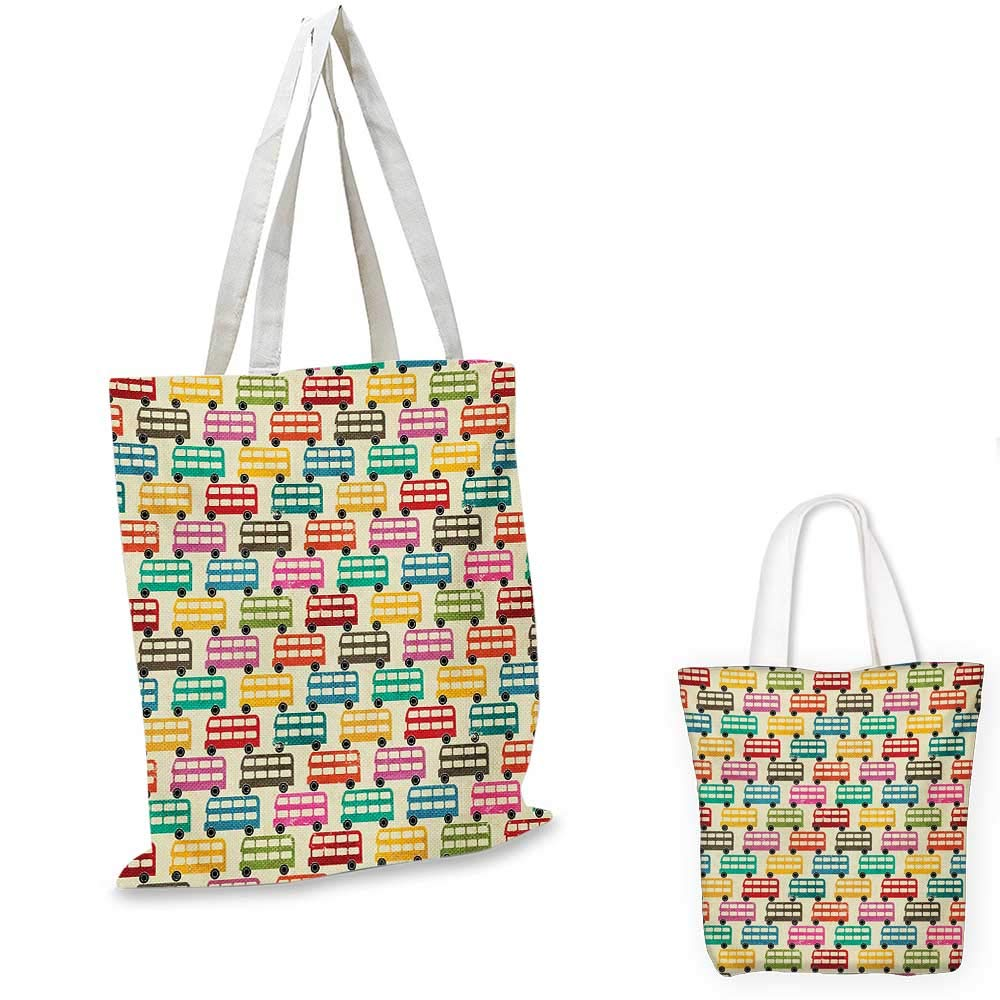 12x15-10 Colorful canvas messenger bag Mix of Fantasy Design Elements Circles Dots Swirls Stars Joyful Fun Graphic Art canvas beach bag Multicolor