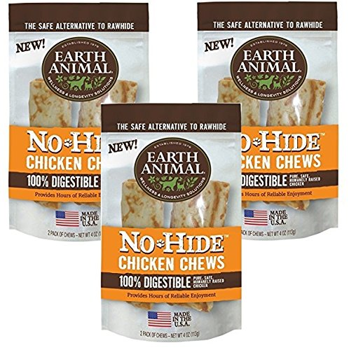 61ssPaOgbTL - Earth Animal No-Hide Chk Chw 4 Inches - 6 Total(3 Packs with 2 per pack)