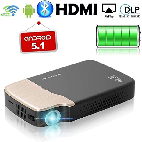 Mini Bolsillo DLP 3D HD Proyector Bluetooth, LCD portátil Android ...