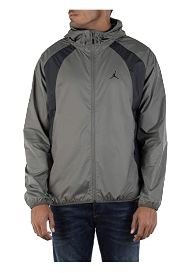 Amazon.com  Jordan Nike Men s Air Wings Windbreaker Jacket Grey ... cbaadf9fc