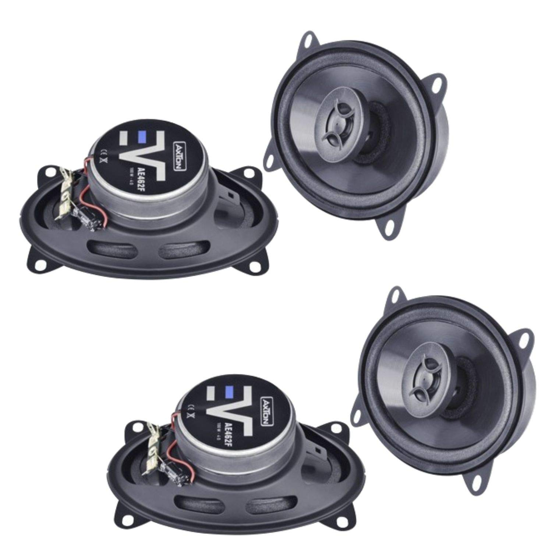 Axton AE462F 2 Wege Koaxial Lautsprechersystem passend f/ür BMW 3er E21 in die vorderen T/üren und Hutablage hinten