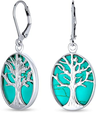 Turquoise Jewelry Set Turquoise Pendant Dangle Earrings turquoise pendant sterling silver Turquoise Gemstone Jewelry Gift For her Woman