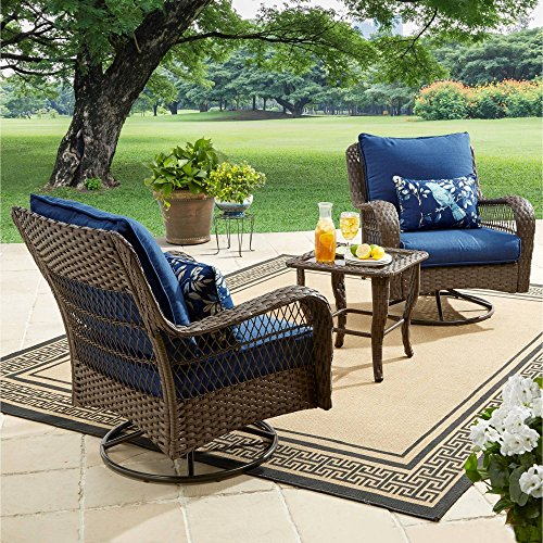 Better Homes and Gardens Colebrook 3-Piece Outdoor Chat Set, Seats 2