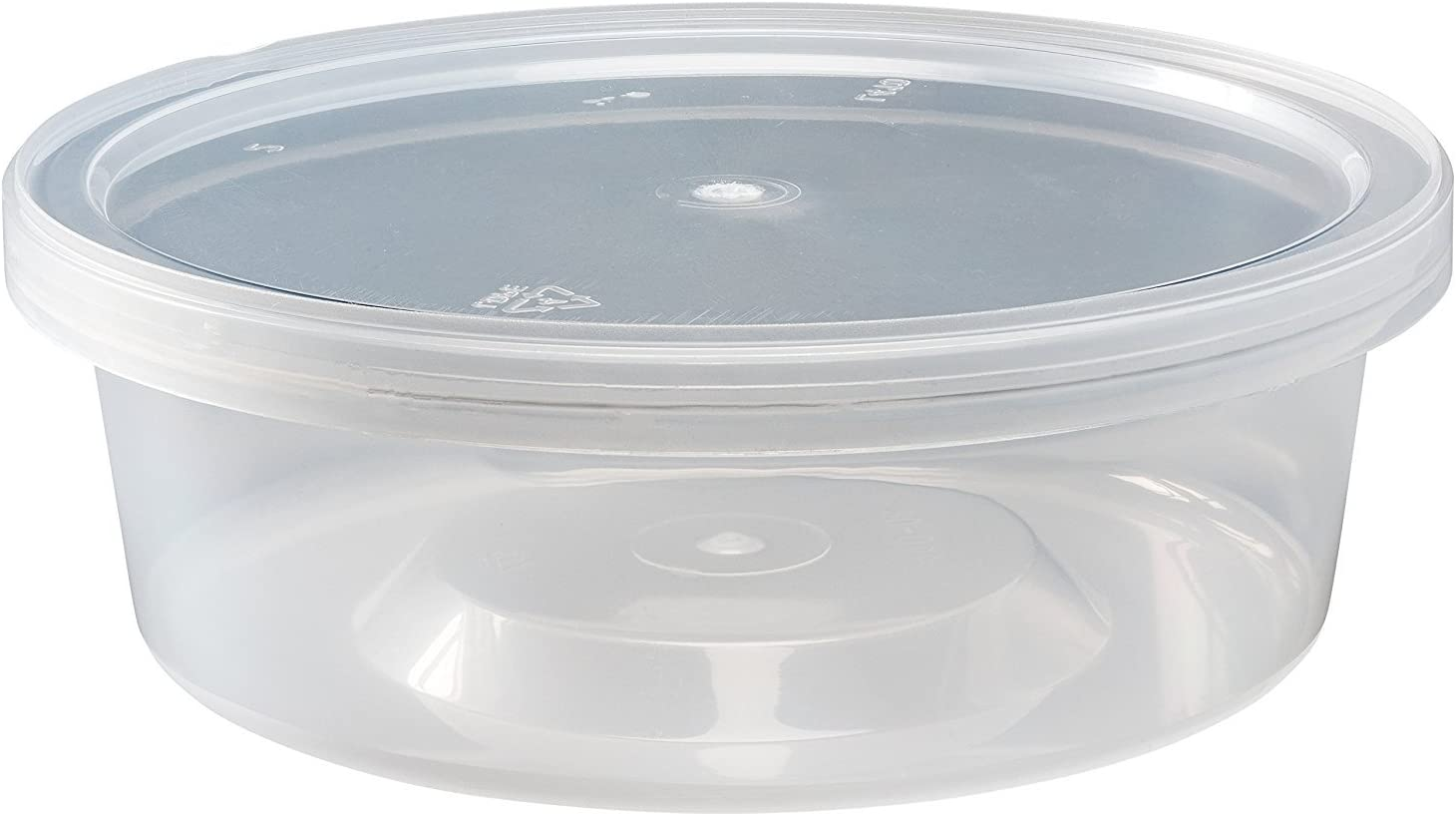 Pack of 40 Food Deli Containers with Lids (8 oz.) – Leak Proof, Microwaveable, Clear Meal Prep Storage Boxes – Top in the Industry Premium Quality - by DCS Deals