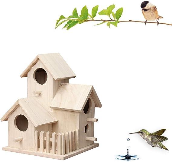 Yncc Nichoir /à Oiseaux en Bois,Nichoir//Refuge pour Oiseaux Pouvant,Cabane /à Oiseaux en Bois,Nichoir pour Oiseaux Exterieur