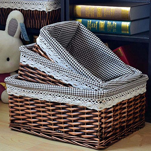 Media Share Rattan Willow Storage Basket of Dirty Clothes...