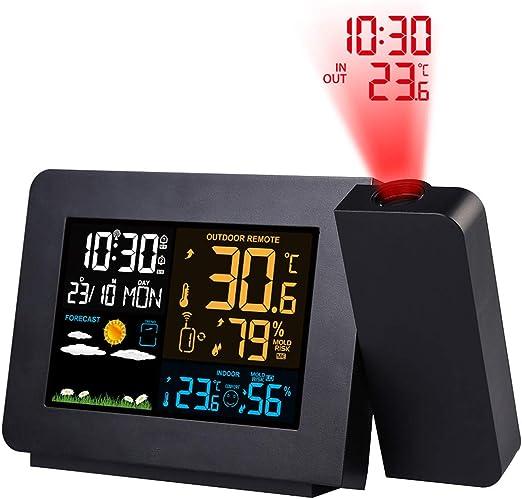 BANESE Despertadores Digitales Proyector - 180 Grados Ajustable ...