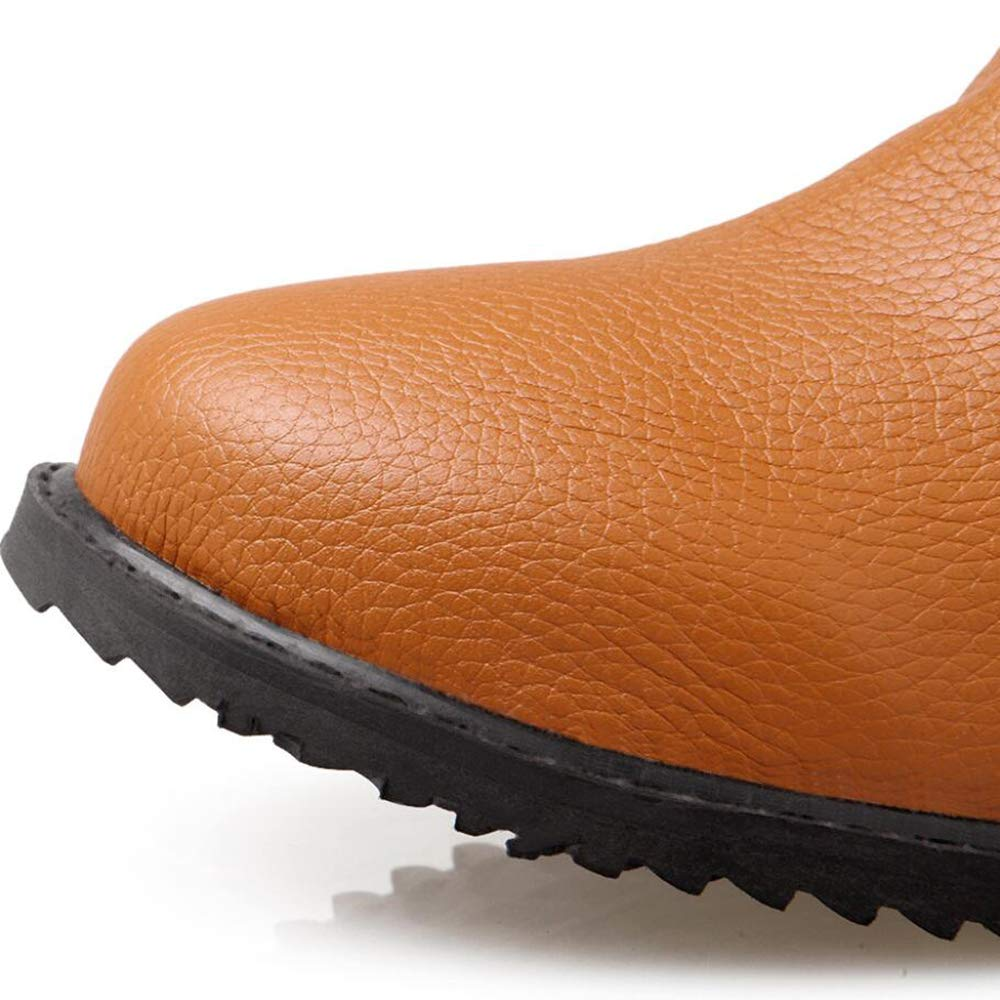 CITW Herbst Damenstiefel Großformat Damenstiefel Flach Flach Flach Stiefel Martin Stiefelfashion Stiefel,Gelb,UK5 EUR39 7446ce