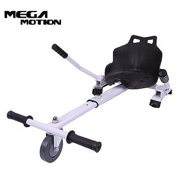 Mega Motion Asiento Hoverkart para Patinete Eléctrico Hoverboard con Silla 6.5,8.5,10 Pulgadas Longitud Adjustable