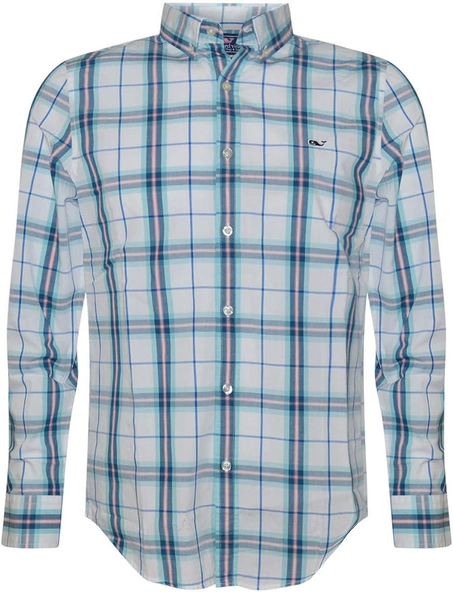Vineyard Vines Mens Slim Fit Whale Shirt Button Down Dress Shirt