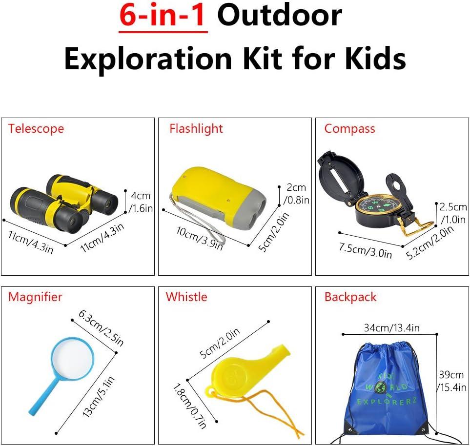VGEBY Jumelles pour Enfants Jouet dexploration binoculaire d/élicat pour lobservation des Oiseaux Observation de la Nature