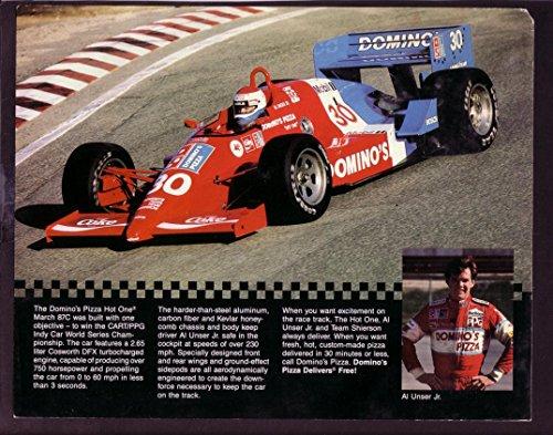 AL UNSER JR. INDY CAR HERO FAN CARD- #30 (Jr Indy Car)