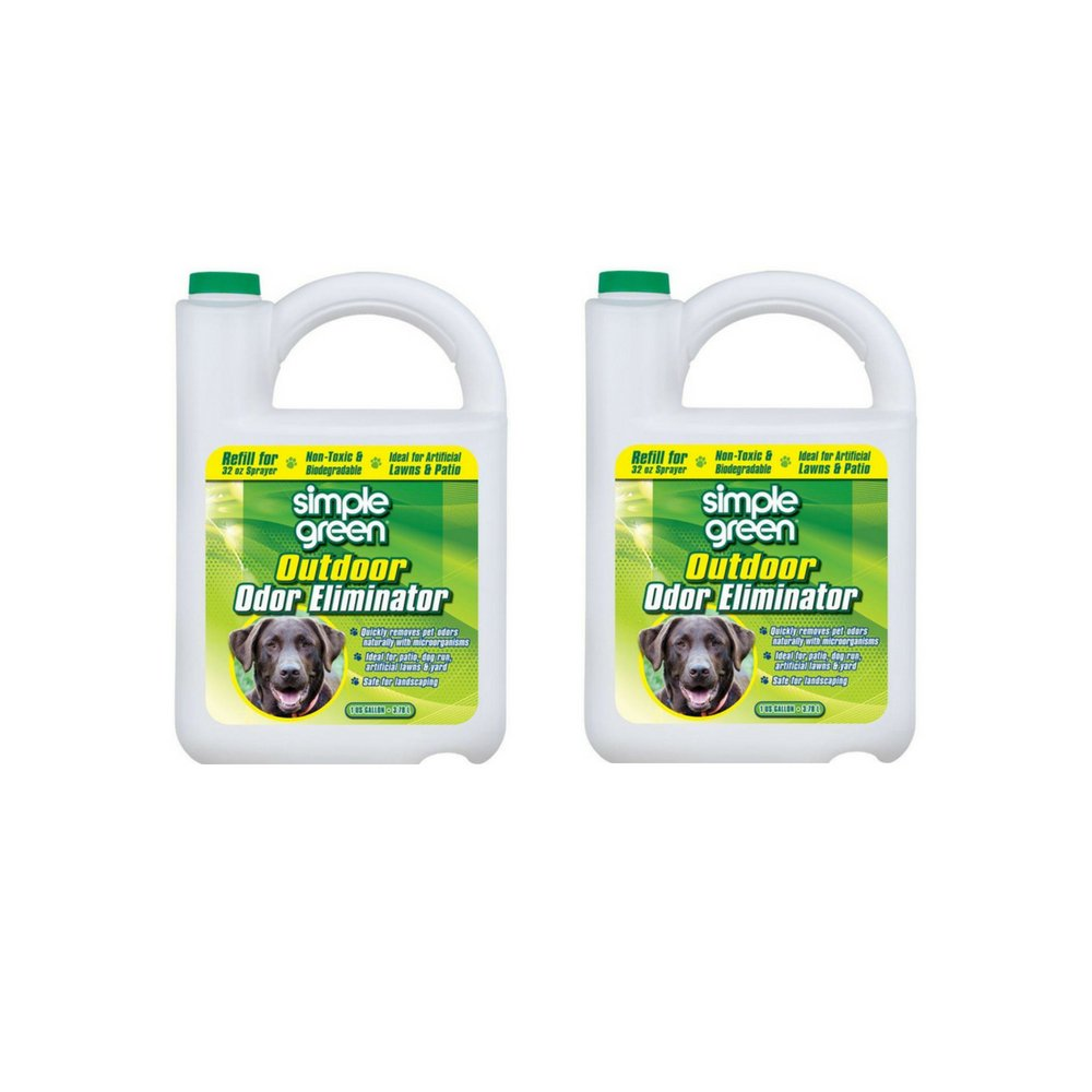 Simple Green 432108 Outdoor Odor Eliminator for Dogs, 1 Gallon (Pack of 2)