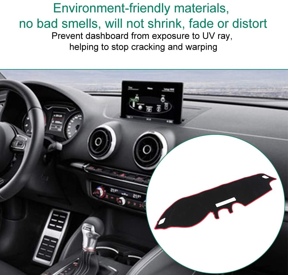 KIMISS Dashboard Mat Car Dashboard Avoid Light Pad Cover Instrument Platform Mat for A3 2014-2015