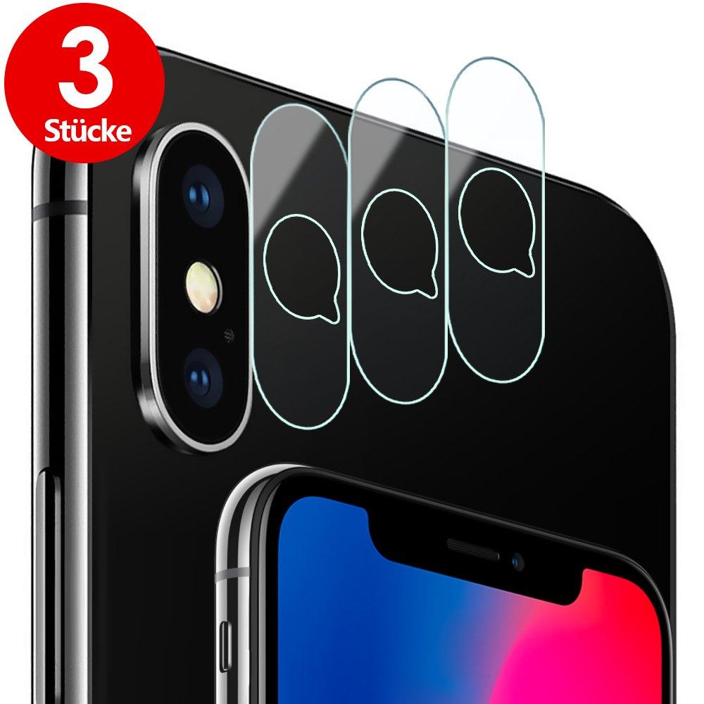 iPhone X Fotocamera Lente protettiva schermo (6Pezzi), G Color 9H Durezza, Olio, graffi e bolla libero, protezione schermo in vetro temperato per iPhone X obiettivo per fotocamera. G-Color