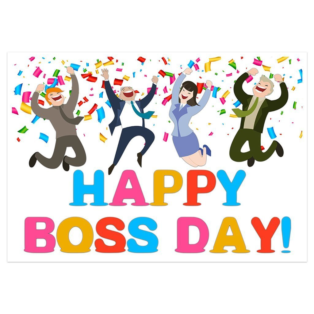 Happy Boss Day Banner Party Backdrop Decoration