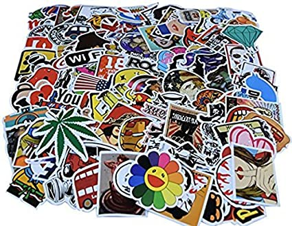 Diageng random styles vinyl stickers 6 12cm pack of 100
