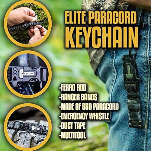 Holtzman's #1 Best Paracord Keychain Carabiner Survival Tool (Elite) by Holtzman's Gorilla Survival (Image #2)