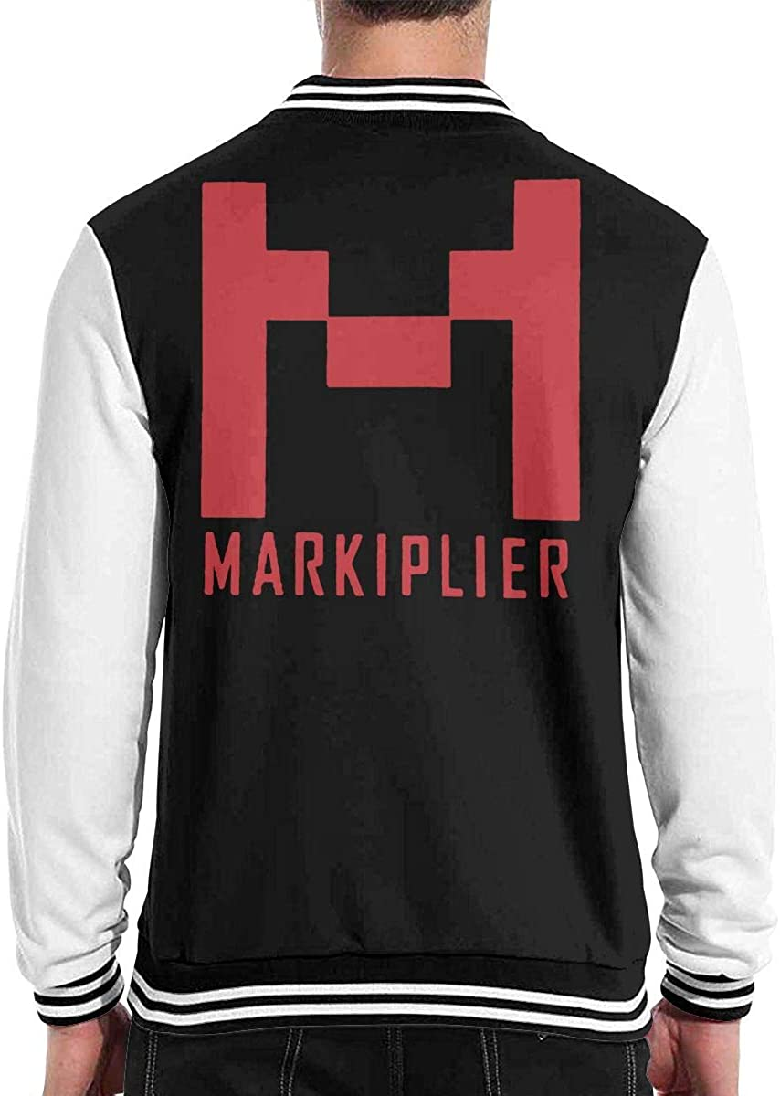 TIWEKDJ Markiplier Mens Varsity Jacket Sweater Coat