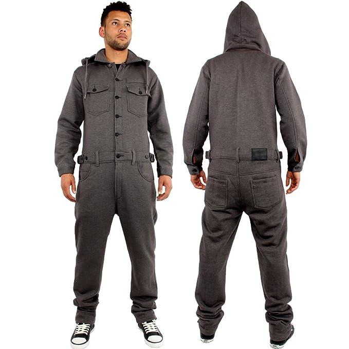 Brooklyn Mint - Pijama de una Pieza - para Hombre Negro Gris Oscuro M