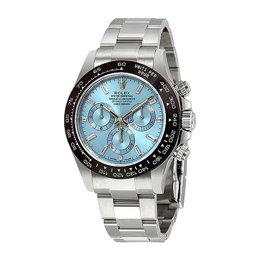 Rolex Oyster Perpetual Cosmograph Daytona hielo azul Dial Automático Mens Reloj cronógrafo 116506: Amazon.es: Relojes